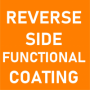 Reverse Side Functional Coating